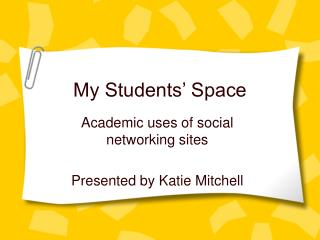 My Students� Space