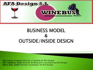BUSINESS MODEL & OUTSIDE/INSIDE DESIGN