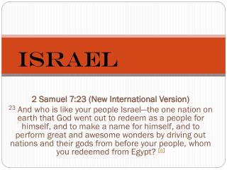 2 Samuel 7:23(New International Version)