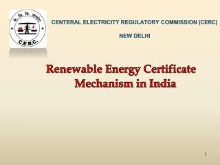 CENTERAL ELECTRICITY REGULATORY COMMISSION CERC  NEW DELHI
