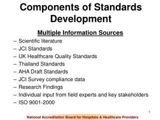 Components of Standards Development