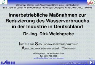 Innerbetriebliche Maßnahmen zur Reduzierung des Wasserverbrauchs in der Industrie in Deutschland