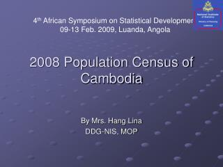 2008 Population Census of Cambodia