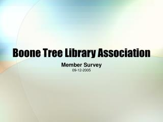 Boone Tree Library Association