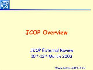 JCOP Overview