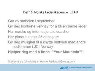 Det 10. Norske Lederakademi –  LEAD