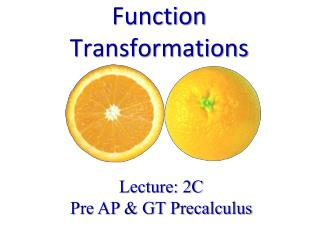 Function Transformations