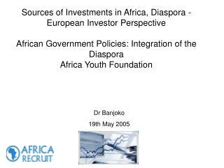 Dr Banjoko 19th May 2005