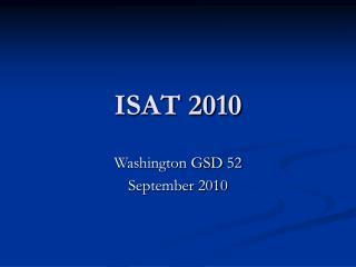 ISAT 2010