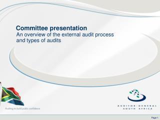 Committee presentation