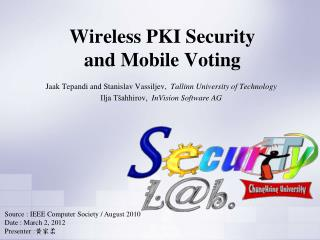 Wireless PKI Security  and Mobile Voting