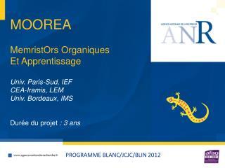 PROGRAMME BLANC/JCJC/BLIN 2012