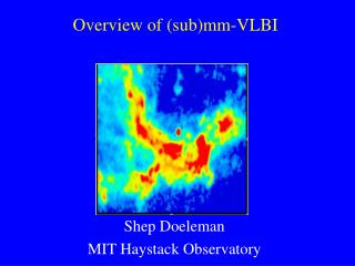 Overview of (sub)mm-VLBI