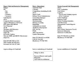 Tyrone (Log and Unit Management) JCLC GPC Cardholder Unit Orders Logistics