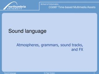Sound language
