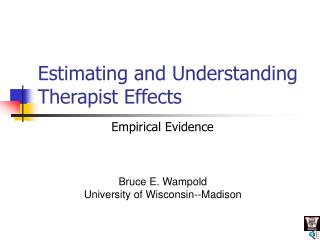Estimating and Understanding Therapist Effects