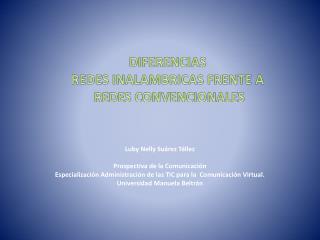 Luby  Nelly Suárez Téllez Prospectiva de la Comunicación