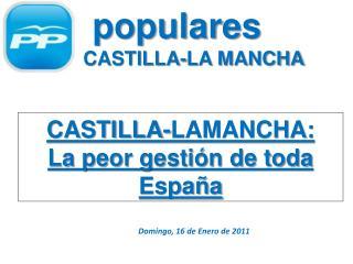 populares de  CASTILLA-LA MANCHA