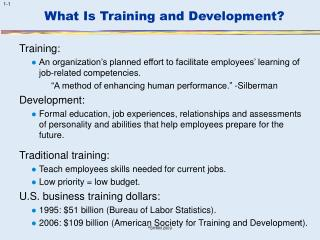 What Is Training and Development