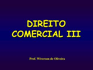 DIREITO COMERCIAL III