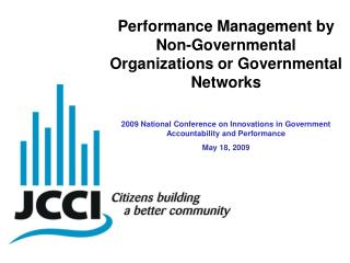 Performance Management by Non-Governmental Organizations or Governmental Networks