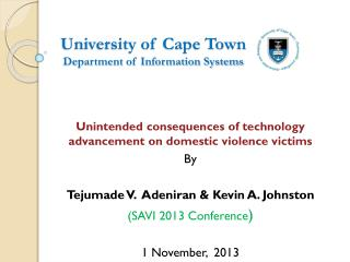 University of Cape Town  Department of Information Systems