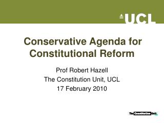 Conservative Agenda for Constitutional Reform