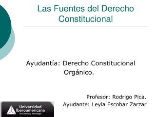 Las Fuentes del Derecho Constitucional