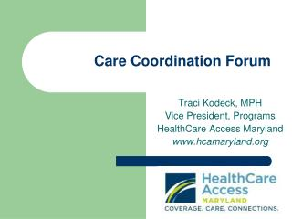 Care Coordination Forum