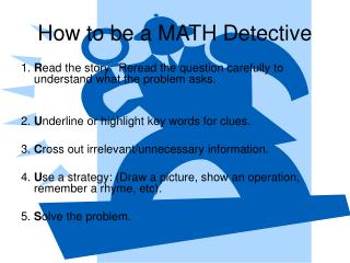 How to be a MATH Detective