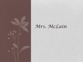 Mrs. McLain