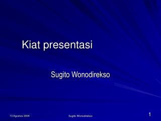 Kiat presentasi