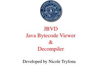 JBVD  Java Bytecode Viewer  &  Decompiler