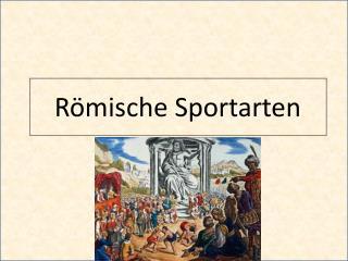 Römische Sportarten