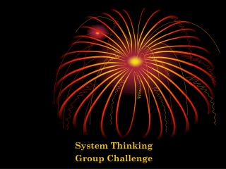 System Thinking Group Challenge