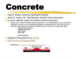 An Overview of Concrete as a Building Material