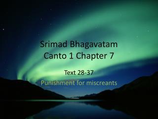 Srimad Bhagavatam Canto 1 Chapter 7