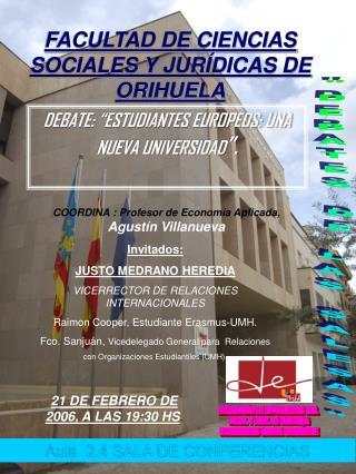 FACULTAD DE CIENCIAS SOCIALES Y JURÍDICAS DE ORIHUELA