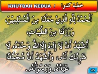 KHUTBAH KEDUA  /