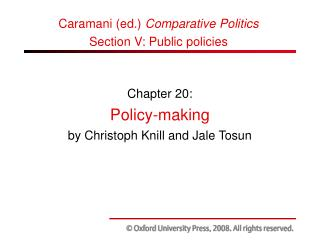 Chapter 20: Policy-making by Christoph Knill and Jale Tosun