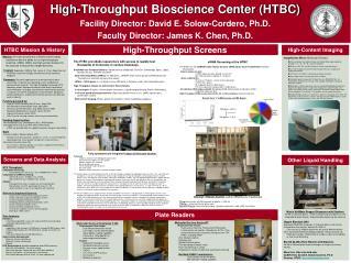 High-Throughput Bioscience Center HTBC