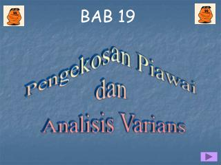 Pengekosan Piawai  dan  Analisis Varians
