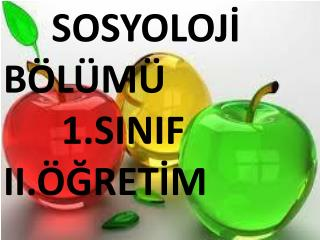 SOSYOLOJİ            BÖLÜMÜ       1.SINIF II.ÖĞRETİM