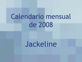 Calendario mensual de 2008