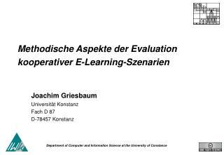 Methodische Aspekte der Evaluation kooperativer E-Learning-Szenarien