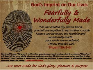 God's Imprint on Our Lives