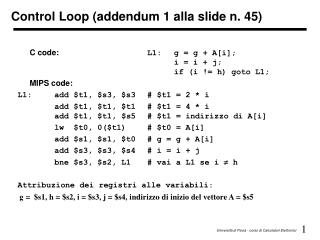 Control Loop (addendum 1 alla slide n. 45)