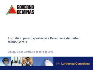 Logística  para Exportações Perecíveis de Jaiba, Minas Gerais