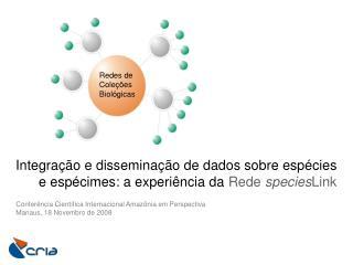 Conferência Científica Internacional Amazônia em Perspectiva Manaus, 18 Novembro de 2008