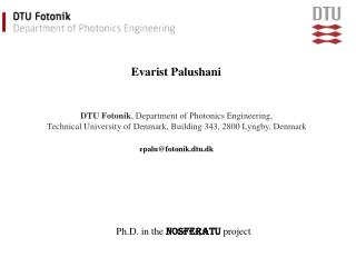 DTU Fotonik, Department of Photonics Engineering,  Technical University of Denmark, Building 343, 2800 Lyngby, Denmark